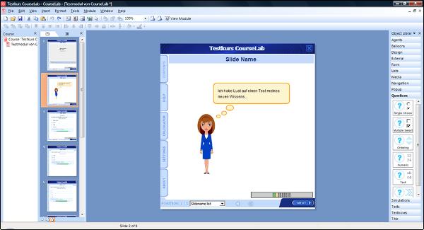 CourseLab Screenshot