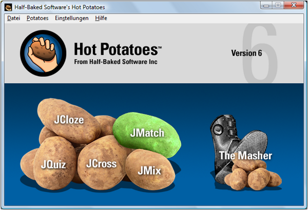 Hot Potatoes Screenshot